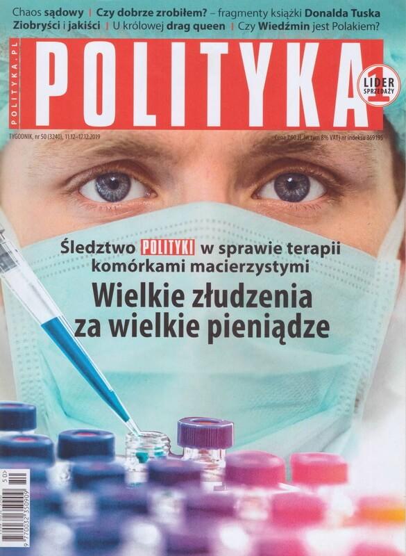 Okładka tygodnika Polityka